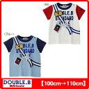 (アウトレットセール30%OFF)ダブルB(ミキハウス) ショルダーバッグプリントの半袖Tシャツ(日本製)