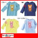 ホットビスケッツ(ミキハウス) ビーンズくん&キャビットちゃん☆全身プリント長袖Tシャツ