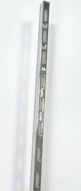 ロイヤル ASF−1 チャンネルサポートクローム 1820ミリ 便利!棚受けレール(ガチャ柱・棚柱)1本単位の販売です。