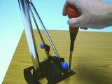 DIYにトライ!ワンタッチ松葉パイプ4本セット 高さ70センチこれでテーブルに脚を取り付ける!