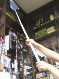 窓ガラス用 アルミ柄伸縮ワイパー(ガラススクイジー) 最長157.9センチまで伸びてお掃除ラクラク