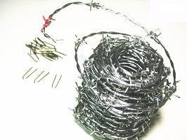 有刺鉄線バーブ20メートル太さ16#泥棒よけや猫よけに【ベストセラー商品】