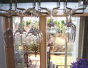 グラス吊り金具ワイングラスホルダー 本金メッキ 全長30センチ