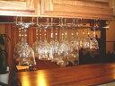 グラス吊り金具ワイングラスホルダー 本金メッキ 全長40センチ