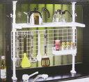 つっぱりキッチン機能ラック(白) お鍋からお玉まで。台所の収納に。