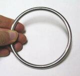 ベビースリングにオススメ! ステンレス丸リング(溶接あり) 線径5ミリ 内径70ミリ 10個セット ★内径の大きいリング