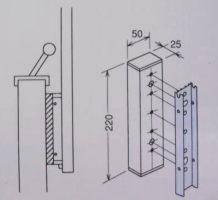 【壁からの出寸法を調整するには】アルミ台座EPL型/EP型用 2袋セット(取付ネジが別途必要です。)