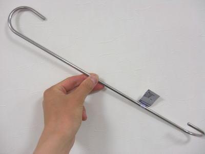 【1本単位】ステンレス 物干しSフック ツイストタイプ 全長400ミリ