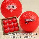 カラーゴルフボール ゴルフ ボール 名 入れ9個【赤】 還暦...