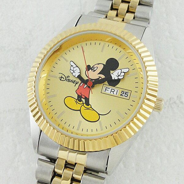 ディズニー 腕時計 メンズ ミッキーマウス デイデイト ツートーン ブレスウォッチ MM0060 ビジネス 男性 ブランド 時計 プレゼント【楽ギフ_包装】【はこぽす対応商品】【02P01Oct16 】