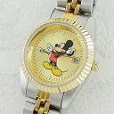 ディズニー 腕時計 レディース ミッキーマウス デイデイト ツートーン ブレスウォッチ MM0061 ビジネス 男性 ブランド 時計 誕生日 新生活 卒業 お祝...