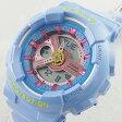 国内正規品 カシオ Baby-G ベビーG 時計 レディース 腕時計 パステルカラー パールブルー BA-110CA-2AJF ビジネス 女性 ブランド プレゼント【楽ギフ_包装】【はこぽす対応商品】【02P01Oct16 】