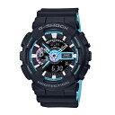 カシオ G-SHOCK ジーショック 腕時計 メンズ ネオンアクセントカラー 海外モデル ブラック×ブルー 多機能デジタル GA-110PC-1A ビジネス 男性 ブランド 誕生日 お祝い プレゼント ギフト お洒落