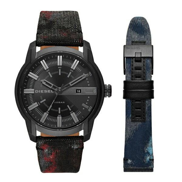 ディーゼル 時計 メンズ 腕時計 ARMBAR アームバー 替えベルト付 天然皮革 デニム DZ1851 ビジネス 男性 ブランド【仕事用】 誕生日 お祝い クリスマスプレゼント ギフト お洒落