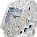 【大決算祭り】ルイラセール 時計 レディース 腕時計 天然ダイヤモンド ブルーシェル シルバー ステンレス LL04SV-D ビジネス 女性 ブランド 時計 誕生日 お祝い クリスマスプレゼント ギフト