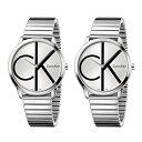 カルバンクライン 腕時計 ペアウォッチ 同じ時計 2本セット ミニマル シンプル シルバー ステンレス ブレスレット 蛇腹 時計 K3M211Z6K..