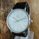 カルバンクライン 時計 メンズ 腕時計 SURROUND サラウンド スリム シルバー文字盤 ブラック レザー K3W211C6 ビジネス 男性 ブランド 時計...