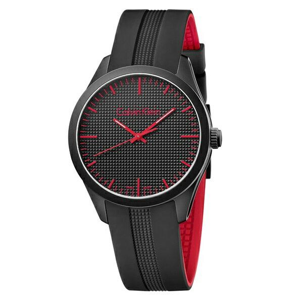 カルバンクライン 時計 メンズ レディース ユニセックス 腕時計 color カラー ブラック レッド ラバー K5E51TB1 ビジネス 男女 プレゼント ブランド 時計 誕生日 お祝い クリスマスプレゼント ギフト お洒落