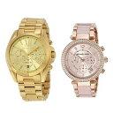 マイケルコース MK 腕時計 ペアウォッチ 大人のクロノグラフ イエローゴールド ローズゴールド 防水 ブレスレットウォッチ MK5605MK5896 ブランド カップル 男女 ペアセット 誕生日 お祝い プレゼント ギフト