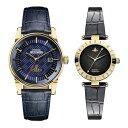 ヴィヴィアン ウエストウッド 時計 ペアウォッチ 42mm 28mm ゴールド ダークブルー ブラック レザー VV065BLBLVV092BKBK ペアセット カップル ブランド 誕生日 お祝い プレゼント ギフト