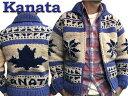 Kanata ロゴ入りカウチンセーター Snow & Maple【送料無料】【代引き手数料無料】【手