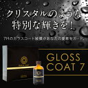 【お買上プレゼント付き】ガラスコーティング剤 グロスコート-7 理想の硬度7Hのガラスコート被膜が愛