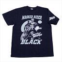 ショッピング仮面ライダー 仮面ライダーBLACK「バトルホッパー」Tシャツ(ネイビー)