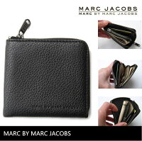 【人気のマークジェイコブスハーフジップウォレット】ブラックMarcbyMarcJacobsアメリカ買付正規品マークバイマークジェイコブス
