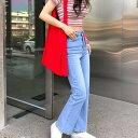 CHUU(チュー)-5kg ROSE edition jeans vol.4【4/15up_mo】【送料無料】韓国 韓国ファッション マイナス5キロジーンズ  ボトムス ブーツカット -5kg  カジュアル デニム レディース ファッション【あす楽】※メール便不可