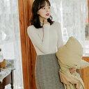 MERONGSHOP(メロンショップ)ララランドウールスカート韓国 韓国ファッション ボトムス スカート ウール ミニスカート ツイード 大きい..