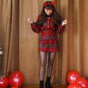 SONYUNARA(ソニョナラ)PARTY RED/チェックウールスカート【12/14up_wo】【メール便】韓国 韓国ファッション タータンチェック スカー..