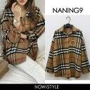 NANING9(ナンニング)タータンチェックシャツ【12/6up_go】【送料無料】韓国 韓国ファ