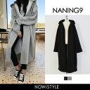 NANING9(ナンニング)裏起毛ロングパーカー【10/30...