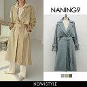 NANING9(ナンニング)ウエストマークトレンチコート【3...