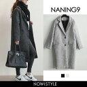 ●セール対象●【あす楽】NANING9(ナンニング)ツイードチェスターコート【送料無料】アウター コ