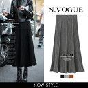 N.Vogue(エヌヴォーグ)ニットプリーツスカート 【送料...