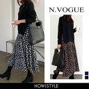 N.Vogue(エヌヴォーグ)ドッキングロングワンピース【1...