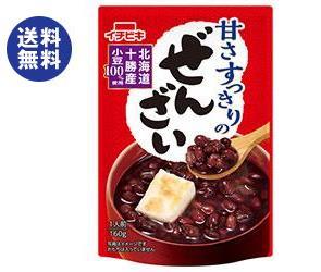 【送料無料】【2ケースセット】イチビキ 甘さすっきりのぜんざい 160g×20(10×2)袋入×(2ケース) ※北海道・沖縄は別途送料が必要。