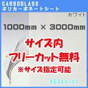【AGC】ポリカーボネート板 カーボグラスポリッシュ ホワイト 3mm厚1000mm×3000mm[2カット無料]【送料無料】