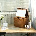 【国産木製コスメティックボックス M】■送料無料■日本製■ 木製 コスメボックス 天然木 メイクボックス 化粧箱 化粧ボックス