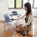 \ページ限定・マジッククロス付/ コンパクトパソコンテーブル MT-2702 【送料無料】 [分割タイプのノートパソコン&プリンターテーブル] PCテーブル パソコンテーブル [ミニ 小型 おしゃれ 省スペース サイドテーブルとしても]