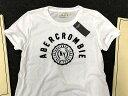 【送料無料】【新品】アバクロ【Womens】ロゴアップリケTシャツ/White【Applique Logo Tee】【Abercrombie&Fitch】【本物保証】【レディース】