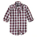 Abercrombie&Fitch (アバクロンビー&フィッチ) ストレッチ ボタンダウン チェックシャツ(長袖)(Check Poplin Shirt) メンズ (White Plaid) 新品