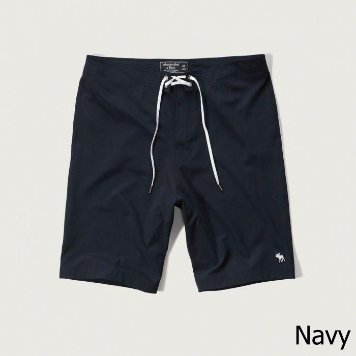 ◆【新品】アバクロ【Mensメンズ】ストレッチボードショーツ(水着)/Navy【9'' Board Fit Swim Shorts】【Abercrombie&Fitch】【本物保証】