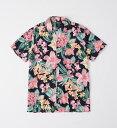 ショッピングAbercrombie Abercrombie&Fitch (アバクロンビー&フィッチ) 半袖 ハワイアンシャツ (Vacation Button-Up Shirt) メンズ (Navy Floral) 新品