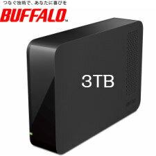 【送料無料】バッファロー 外付ハードディスク USB3.0 PC&TV両対応 省エネ機能付 3TB ブラック HD-LC3.0U3/N