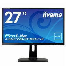 (単品限定購入商品)【送料無料】iiyama 27型ワイド液晶ディスプレイ ProLite XB2783HSU (AMVA+、LED、昇降スタンド付) マーベルブラックXB2783HSU-B1