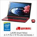 (単品限定購入商品)【送料無料】NEC LAVIE Smart NS(e) ルミナスレッドPC-SN16CNSA8-1