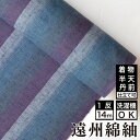 生地 /縞紬 S-50 -紫陽花(あじさい)- 木綿反物