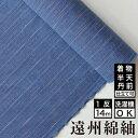 【送料無料】なないろ紬 深海 綿 着物 洗える着物 大人可愛い おしゃれな きれいめ 青 深い青 ブルー
